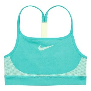 NWT Nike seamless sports bra girls turquoise XS 7